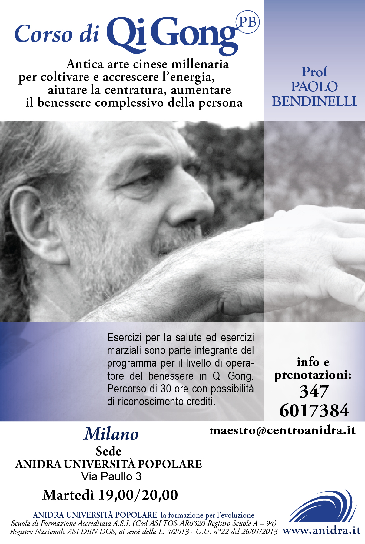 Nuovo corso di qi gong a milano for Corso di grafica milano